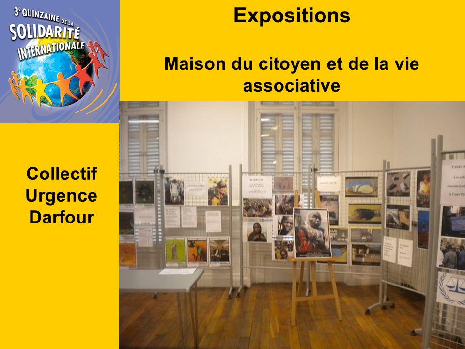 Expositions Maison du citoyen et de la vie associative Collectif Urgence Darfour