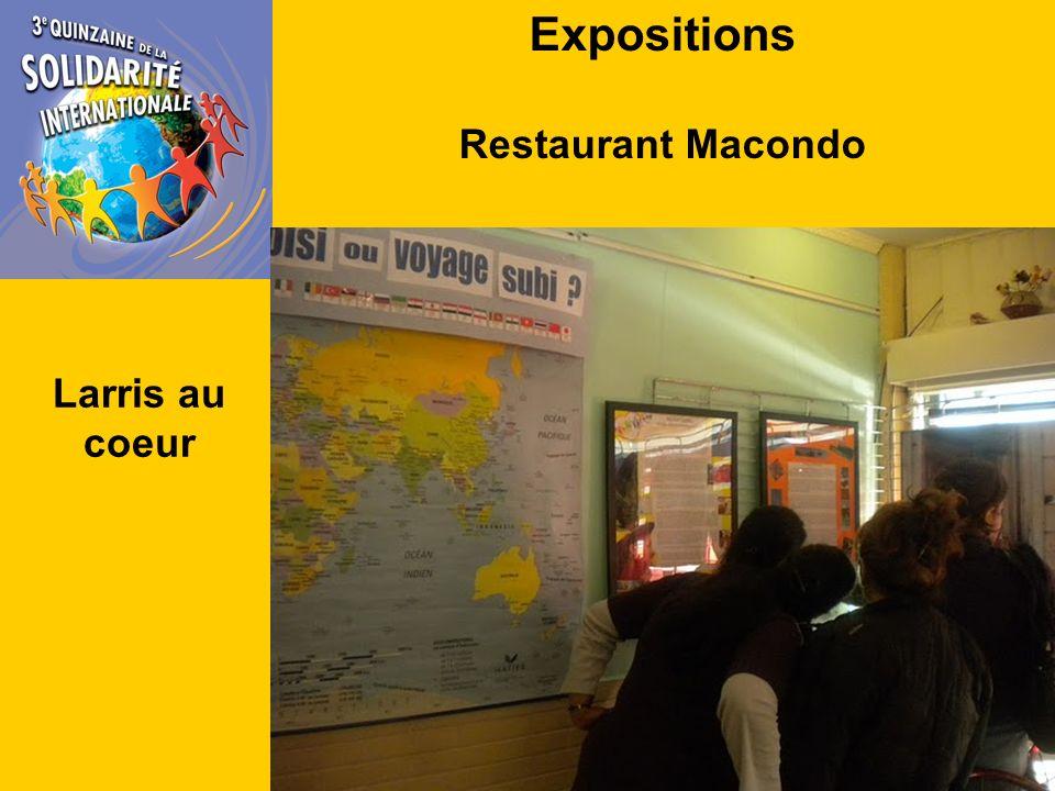 Expositions Restaurant Macondo Larris au coeur