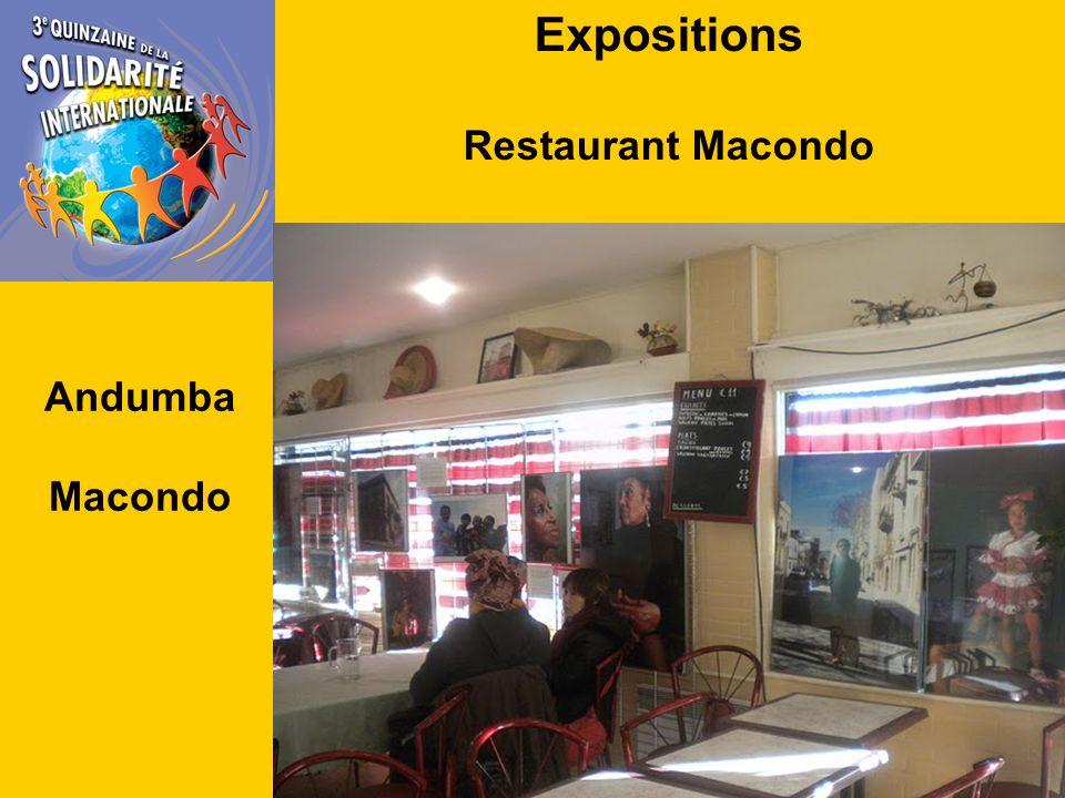 Expositions Restaurant Macondo Andumba Macondo