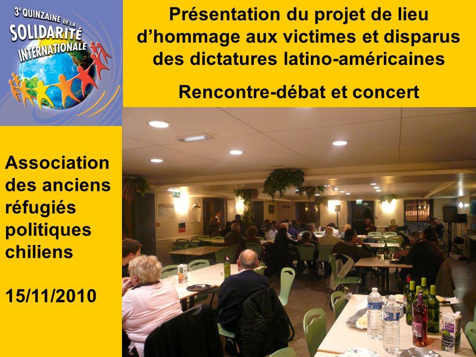 Soirée « La Paix dans la cité » Projections, rencontre et débat Associations Desire India France et Collectif Urgence Darfour 16/11/2010