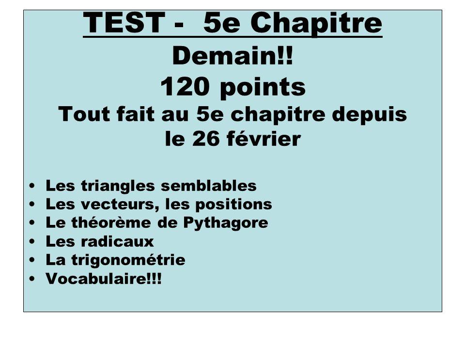 TEST - 5e Chapitre Demain!.