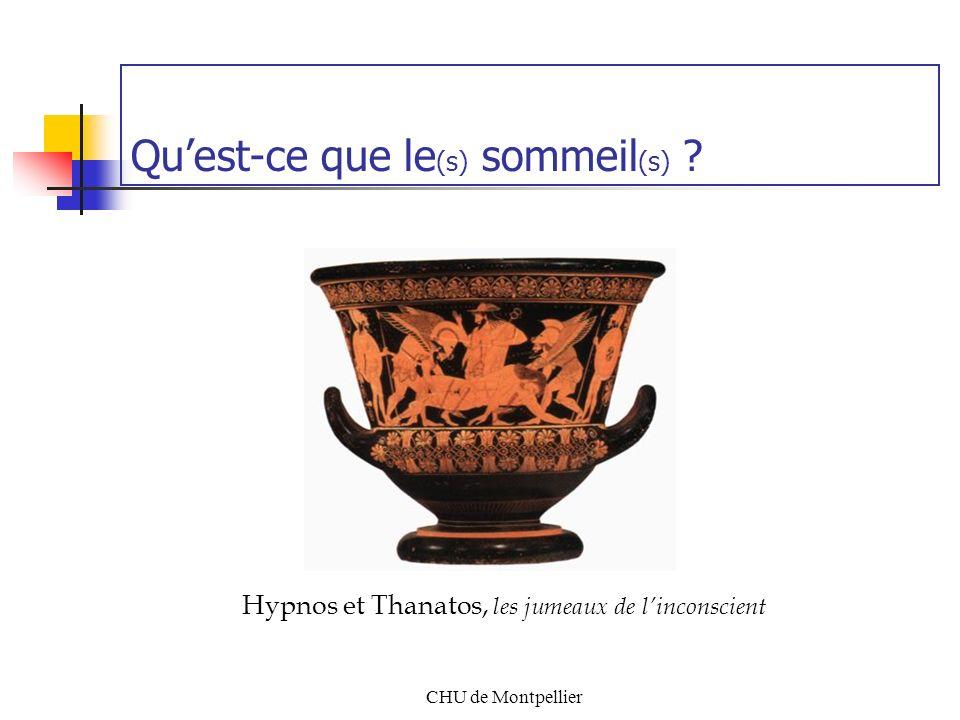 CHU de Montpellier Quest-ce que le (s) sommeil (s) ? Hypnos et Thanatos, les jumeaux de linconscient