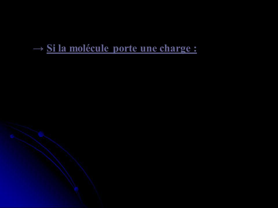 Si la molécule porte une charge : Son transport se fait dans le sens du gradient electrochimique, qui dépend : - du gradient de concentration. - et de