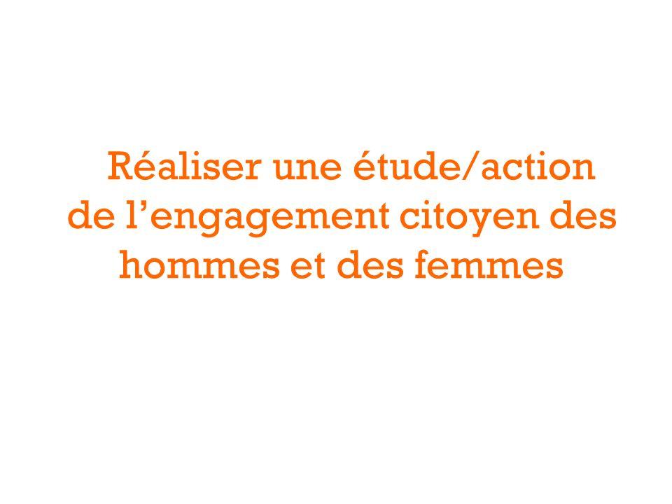 Réaliser une étude/action de lengagement citoyen des hommes et des femmes