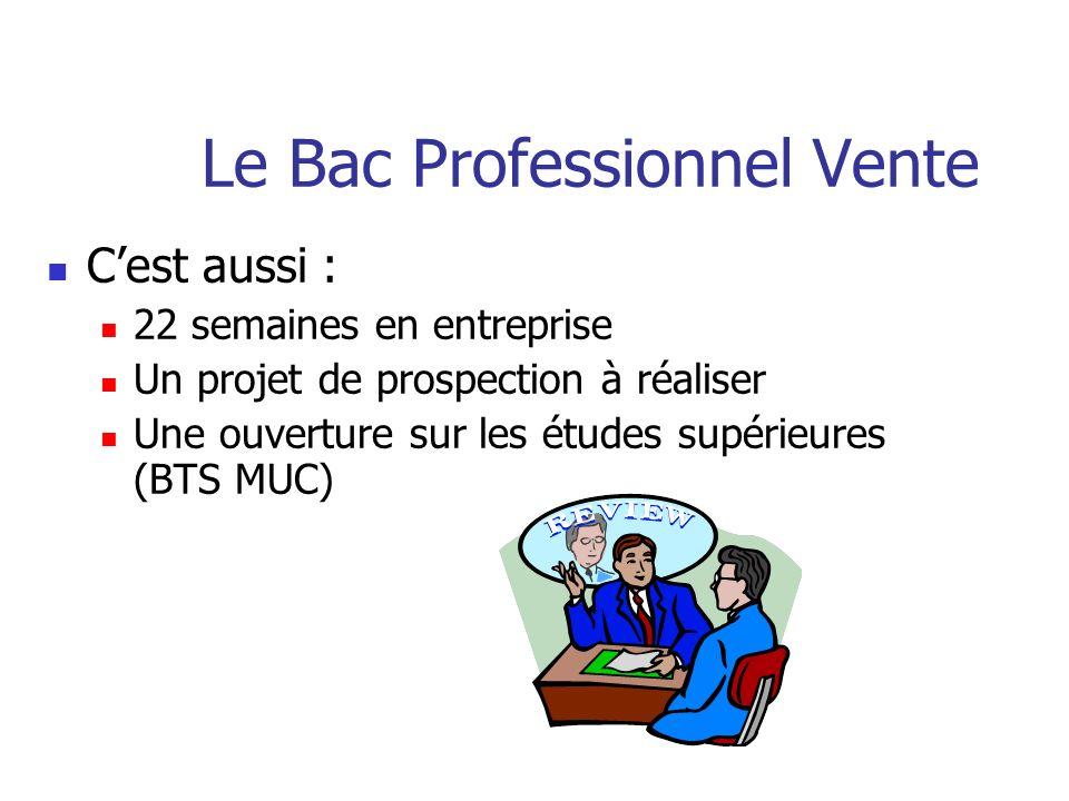 Le Bac Professionnel Vente Une formation rénovée centrée sur : La vente La gestion Lélaboration de projet