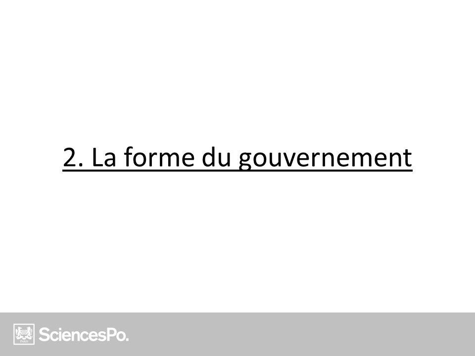 2. La forme du gouvernement
