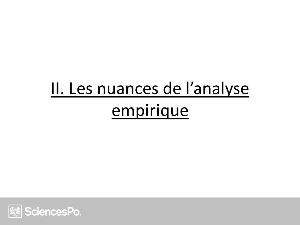 II. Les nuances de lanalyse empirique