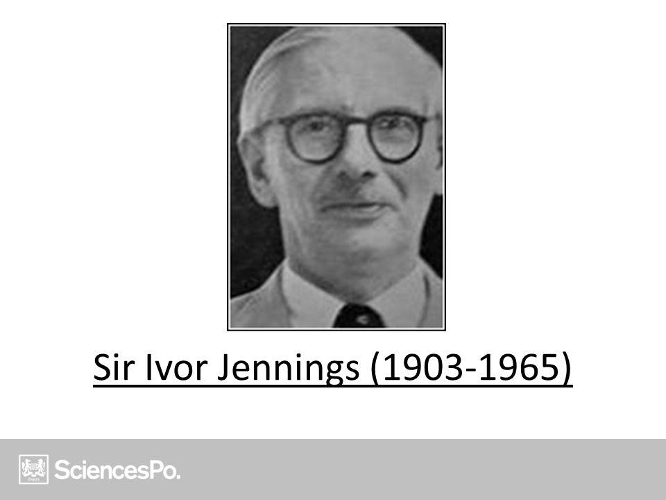 Sir Ivor Jennings (1903-1965)