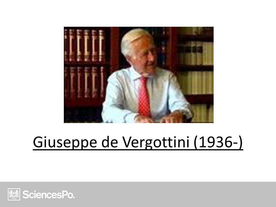 Giuseppe de Vergottini (1936-)