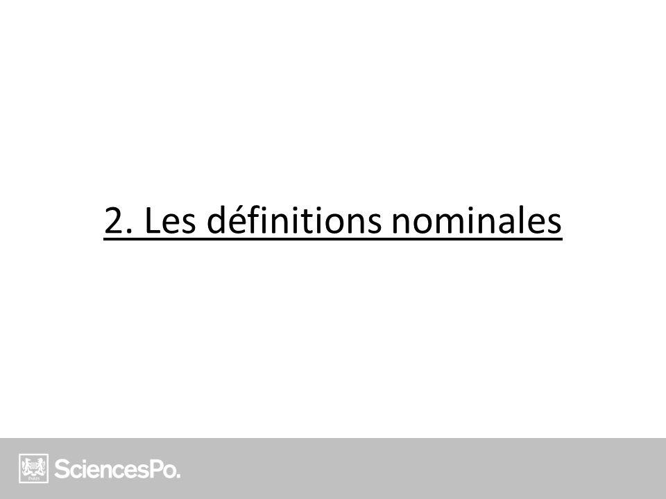 2. Les définitions nominales