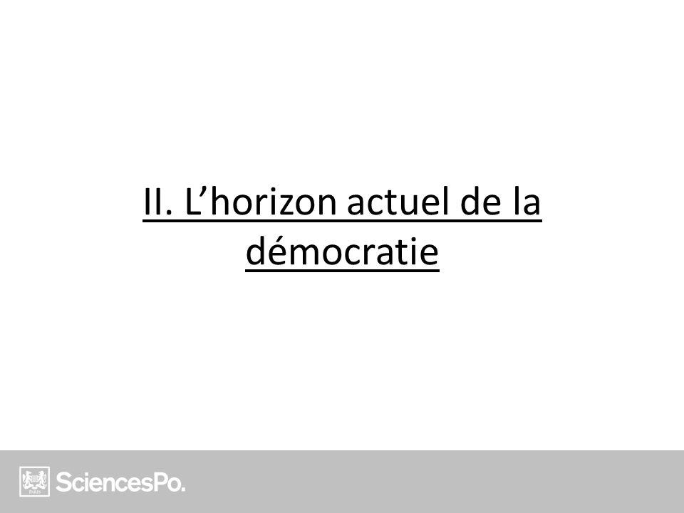 II. Lhorizon actuel de la démocratie