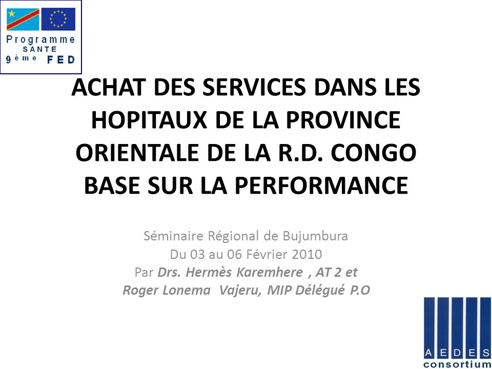 PLAN DE PRESENTATION 1.Région d intervention 2. Profil épidémiologique HGR 3.
