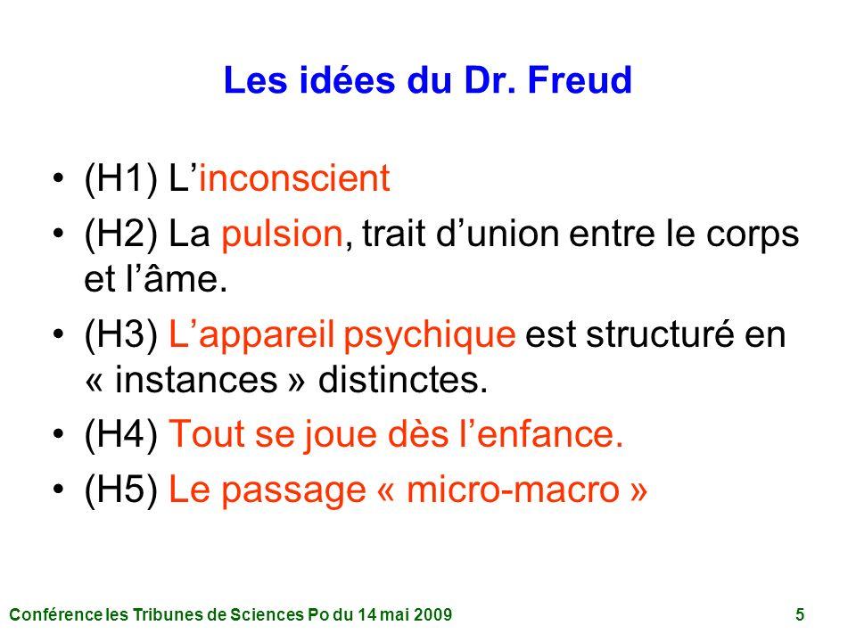 Conférence les Tribunes de Sciences Po du 14 mai 2009 5 Les idées du Dr.