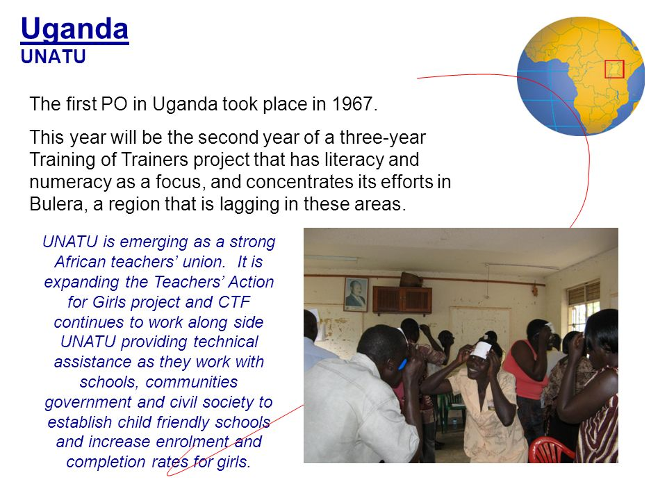 Uganda UNATU The first PO in Uganda took place in 1967.