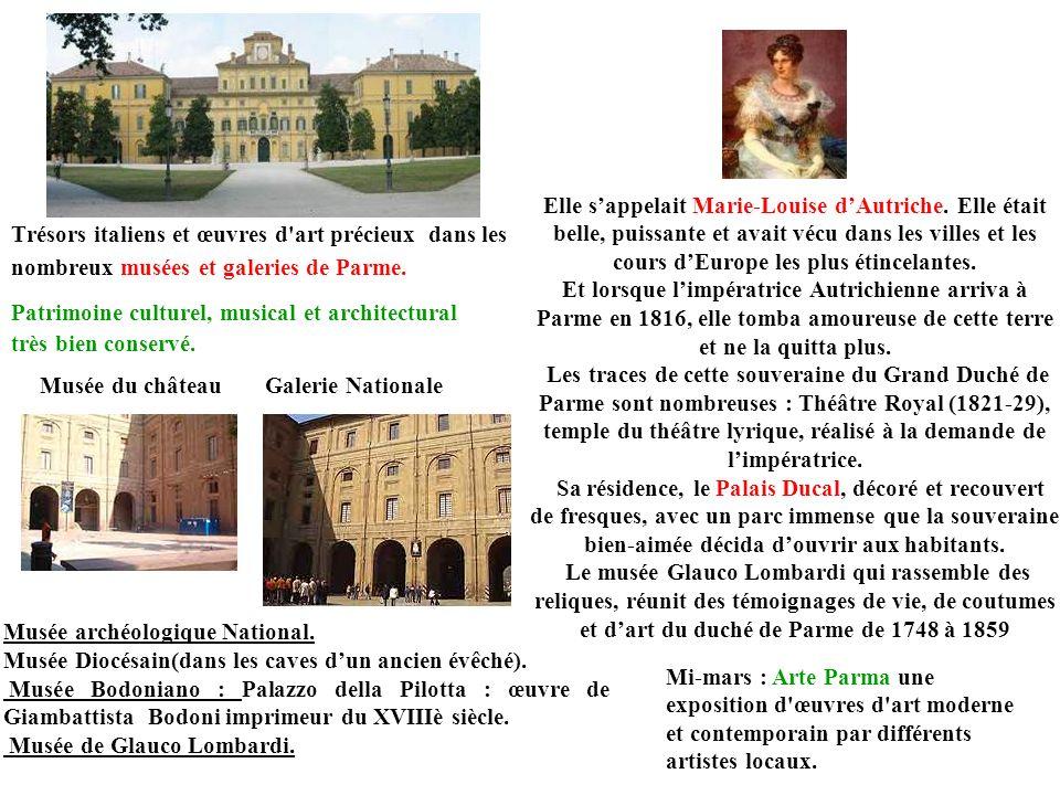 Trésors italiens et œuvres d'art précieux dans les nombreux musées et galeries de Parme. Musée du château Musée archéologique National. Musée Diocésai