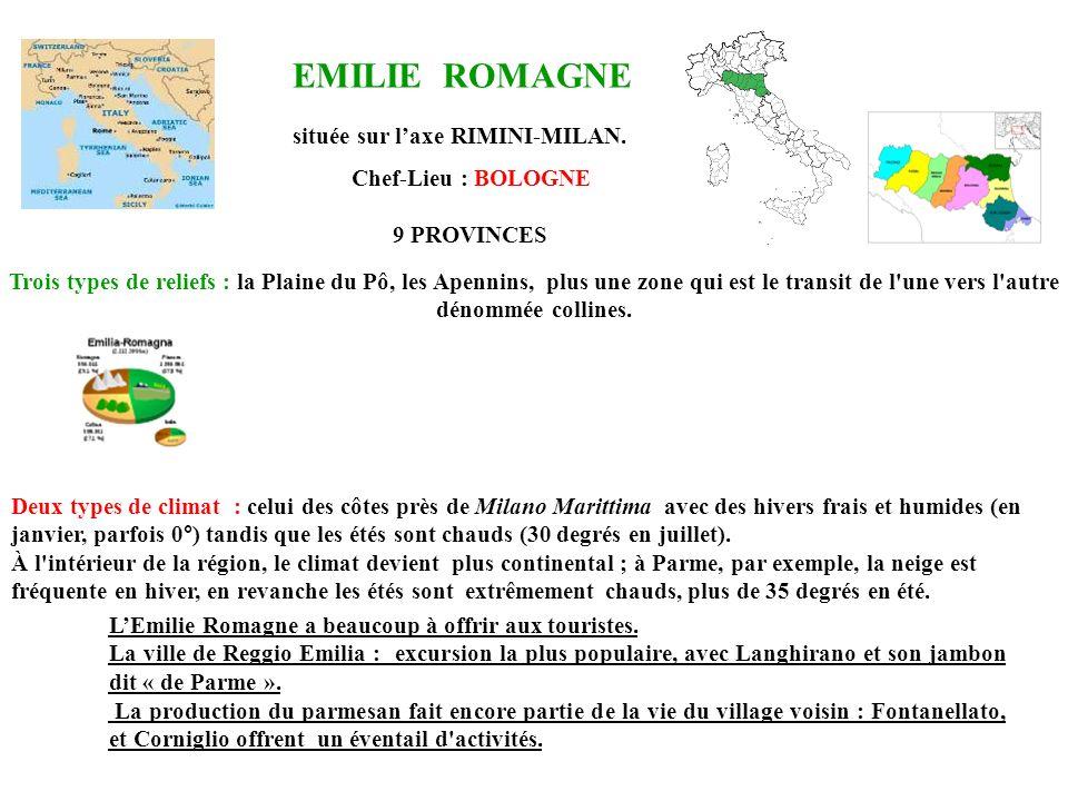 EMILIE ROMAGNE LEmilie Romagne a beaucoup à offrir aux touristes. La ville de Reggio Emilia : excursion la plus populaire, avec Langhirano et son jamb