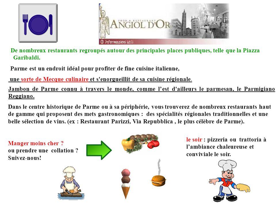 SPECIALITES REGIONALES Culatello de Parme Fiochetto de Parma PARMESAN : Parmigiano Reggiano AOP de la montagne, de 24 ou 36 mois, timbré par la coopérative.