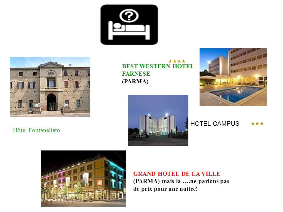 Hôtel Fontanellato GRAND HOTEL DE LA VILLE (PARMA) mais là ….ne parlons pas de prix pour une nuitée! BEST WESTERN HOTEL FARNESE (PARMA) HOTEL CAMPUS