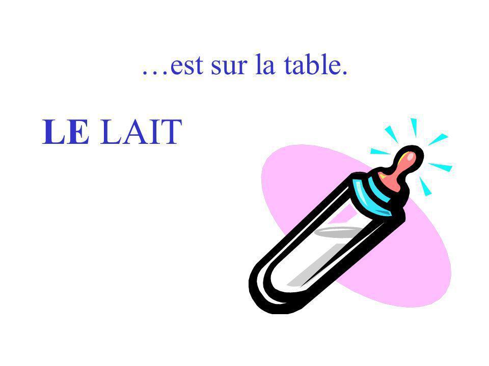 Où es … LE LAIT