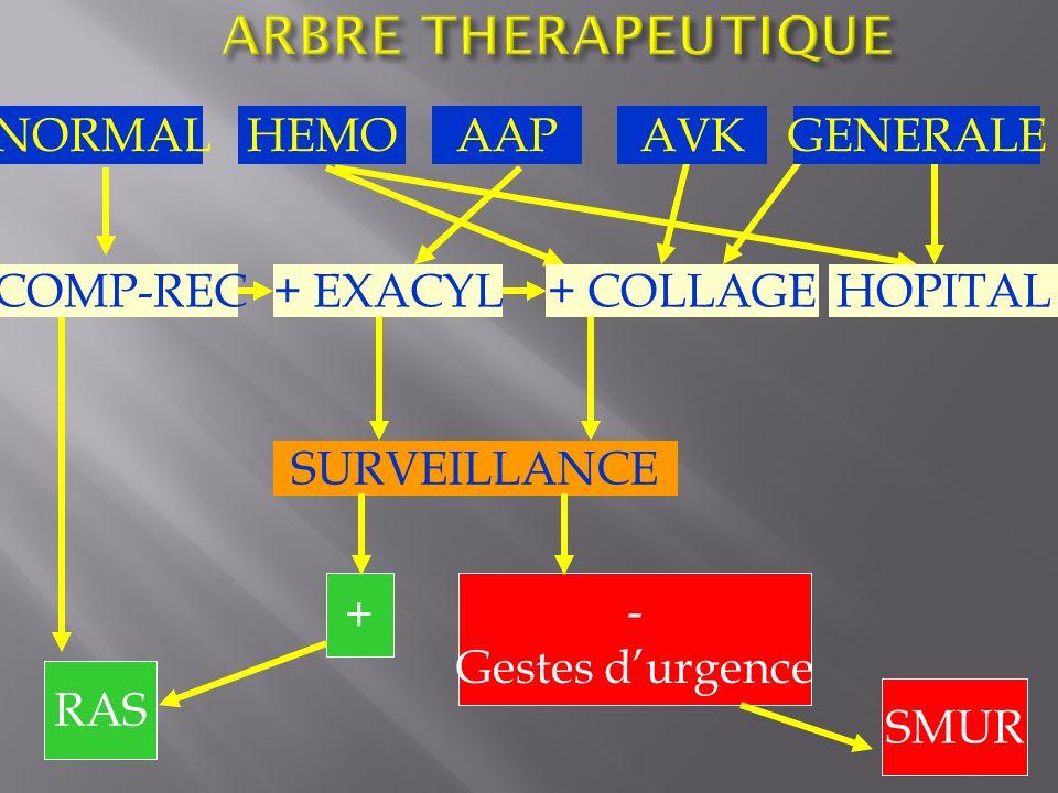NORMAL SURVEILLANCE COMP-REC - Gestes durgence + RAS SMUR HEMOAAPAVKGENERALE + EXACYL+ COLLAGEHOPITAL