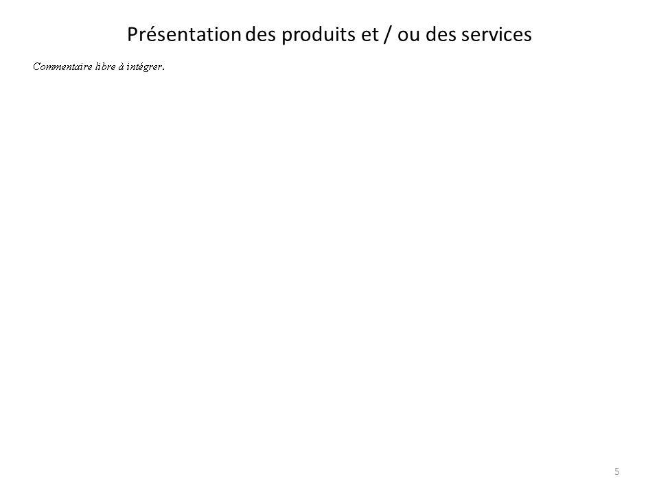 Présentation des produits et / ou des services 5