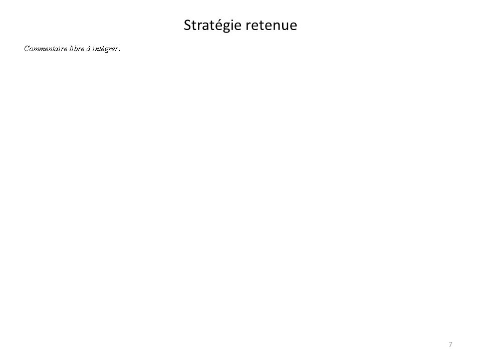 Stratégie retenue 7