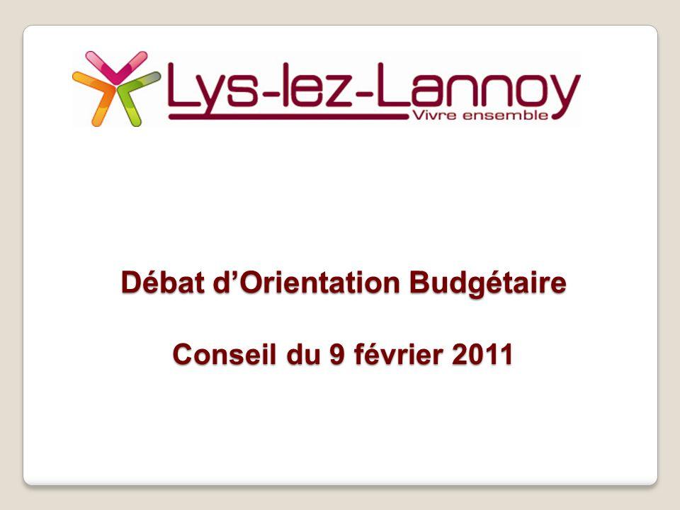 Débat dOrientation Budgétaire Conseil du 9 février 2011