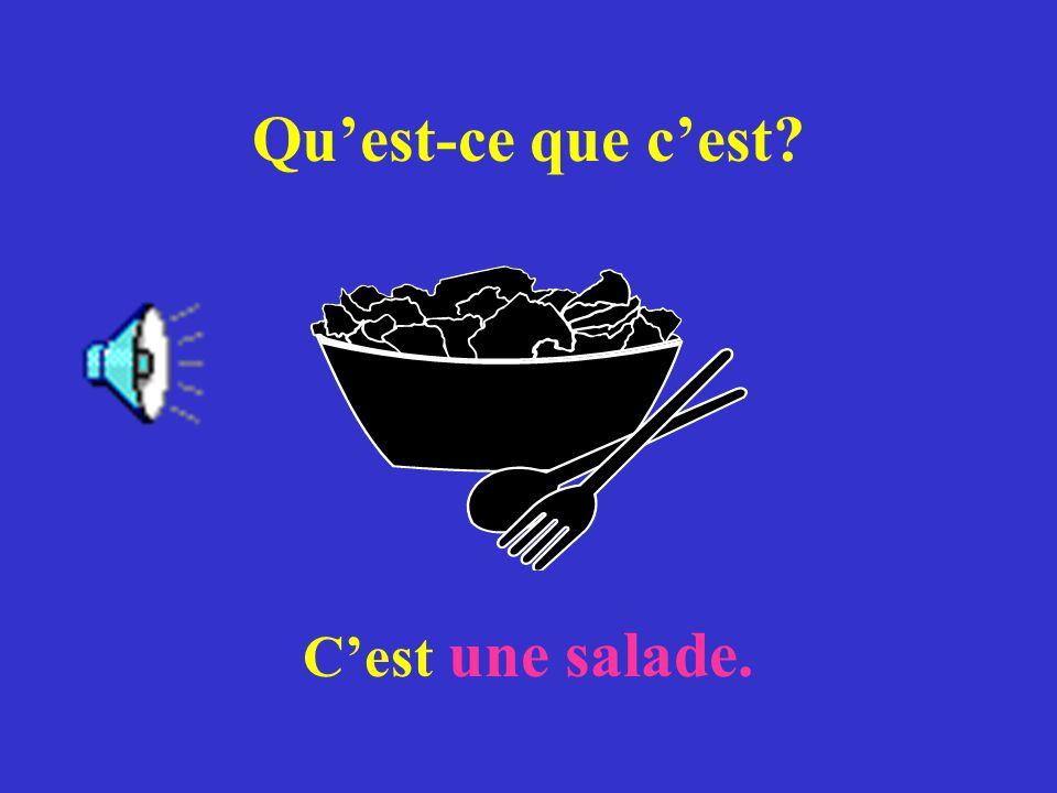 Quest-ce que cest? Cest une salade.