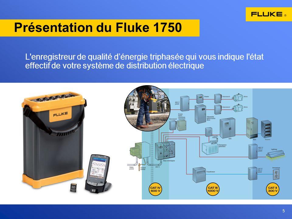 5 Présentation du Fluke 1750 L'enregistreur de qualité dénergie triphasée qui vous indique l'état effectif de votre système de distribution électrique