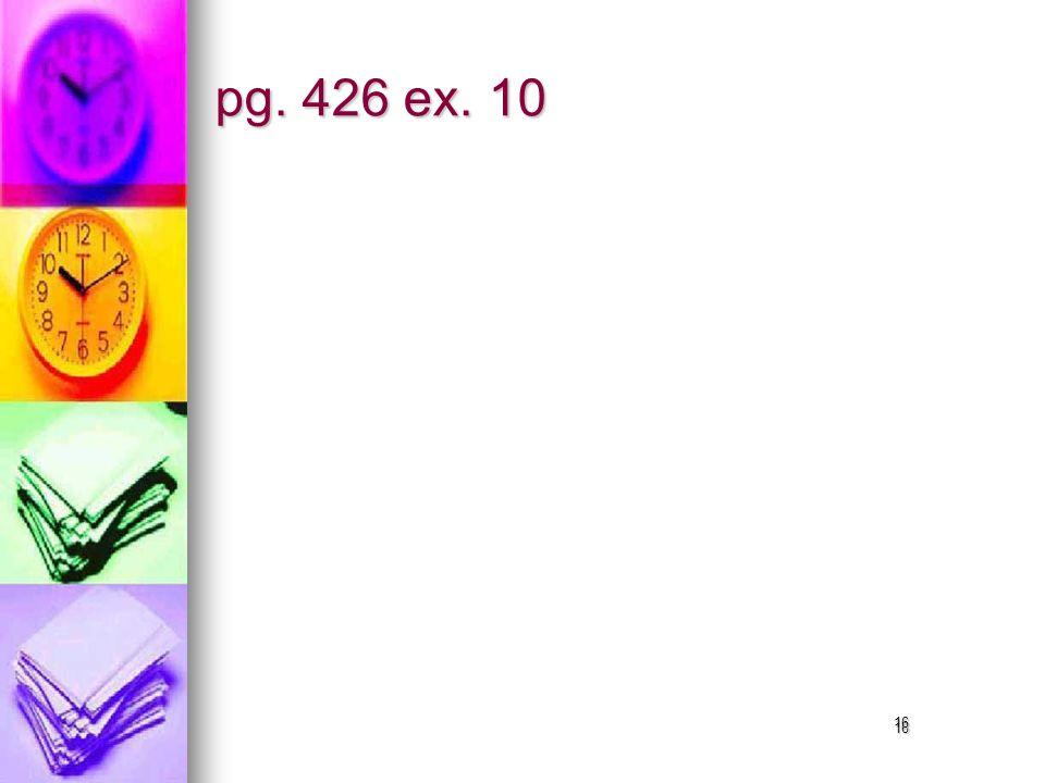16 pg. 426 ex. 10 16