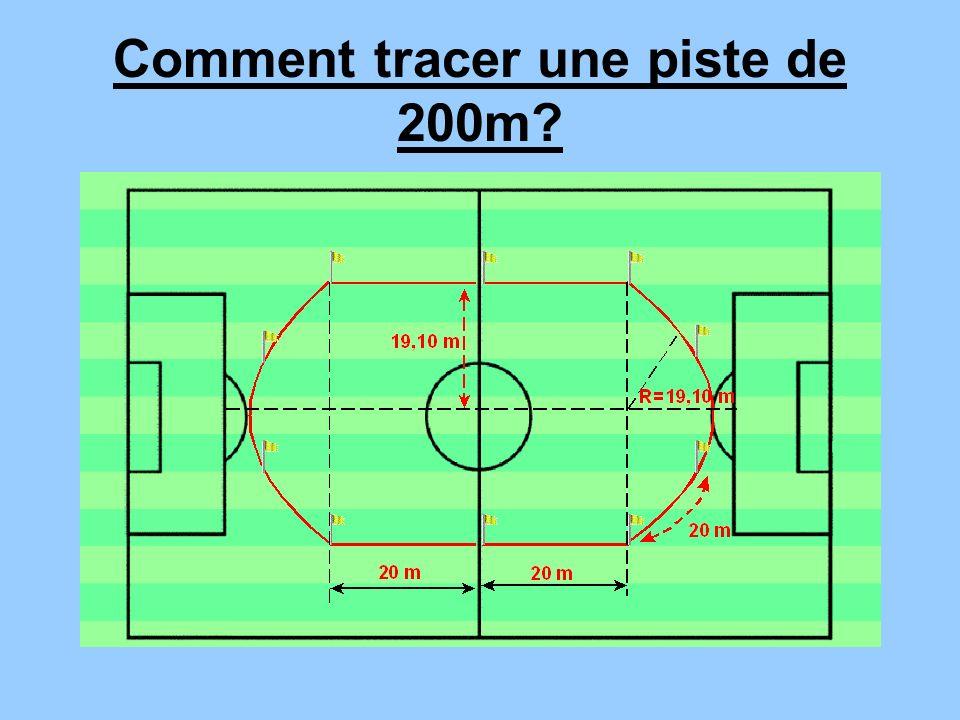 Comment tracer une piste de 200m?