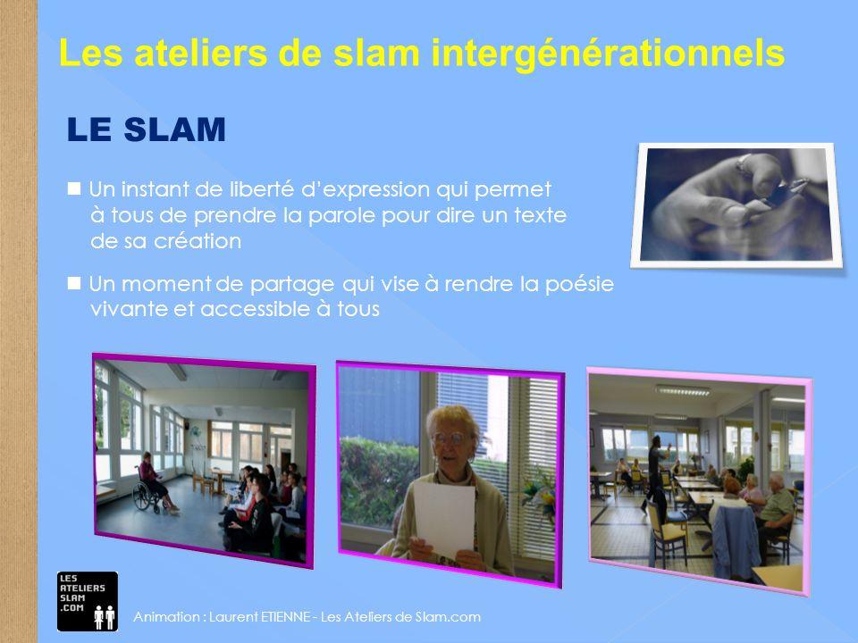 Les ateliers de slam Des jeux décriture ludiques pour souvrir aux autres Le partage et léchange didées sur des thèmes variés