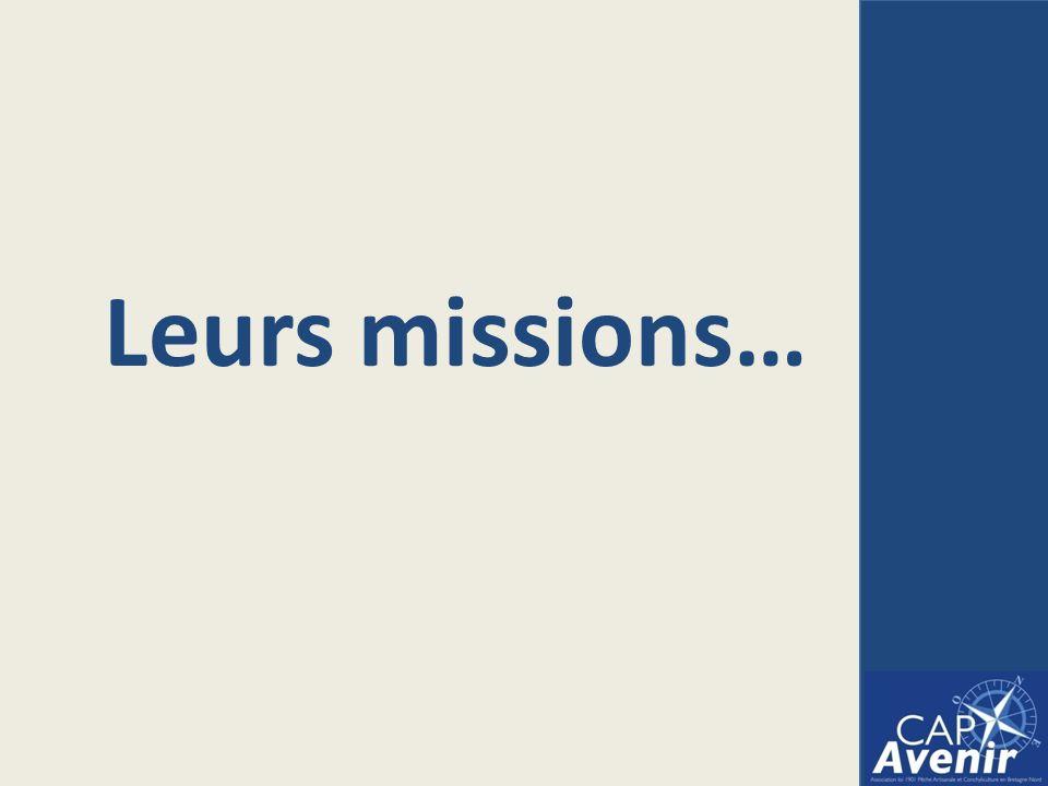 Leurs missions…