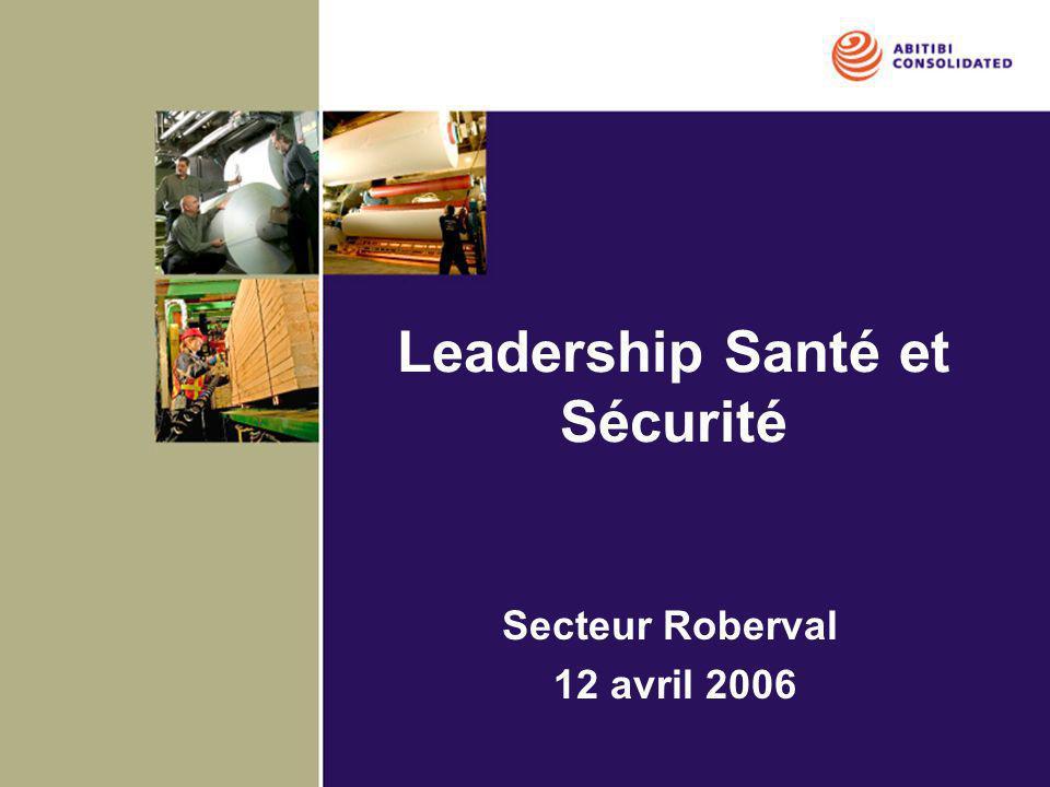 Vision stratégique SST Forêt Lac St-Jean 2006 à 2009 Leadership Que chaque secteur: –Développe les comportements et le leadership des principaux acteurs: entrepreneurs généraux, surintendants de camp, RH, superviseurs, entrepreneurs, CSS, syndicats et employés.