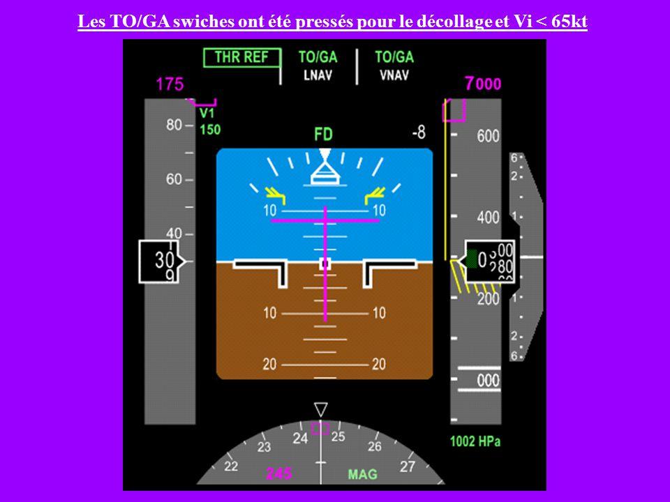 7) Progression FMA Type – Application du cours sur des exemples a) B747-400 Décollage – Montée initiale Nous sommes au roulage 1) Quel est létat denga