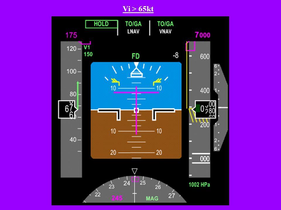 Le pilote place les manettes sur le cran CL