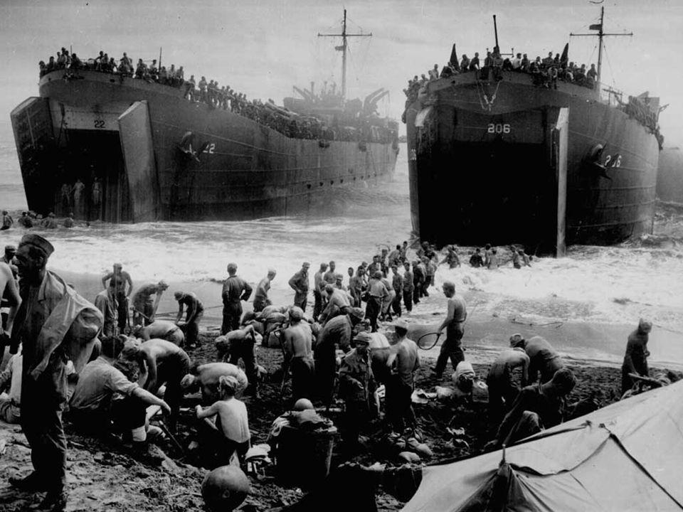 Les forces françaises libres participent au débarquement des alliés le 6 juin 1944 en Normandie.