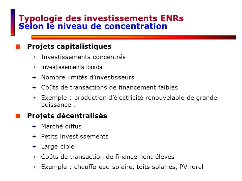 Projets capitalistiques Investissements concentrés Investissements lourds Nombre limités dinvestisseurs Coûts de transactions de financement faibles E