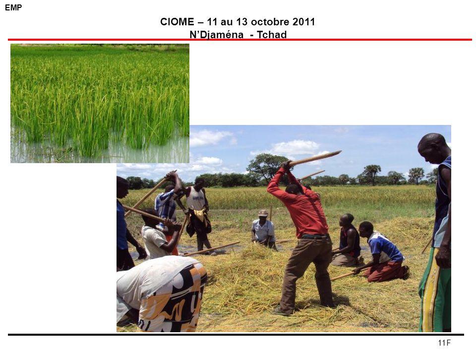 EMP CIOME – 11 au 13 octobre 2011 NDjaména - Tchad 11F