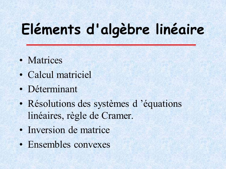 Matrices A est une matrice de dimension n p