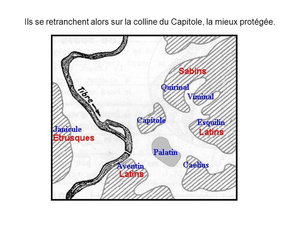 Une nuit, alors que les Gaulois tentent descalader les murs de la citadelle, les Romains sont alertés par les oies sacrées, et les Gaulois finalement rejetés en bas des murailles.