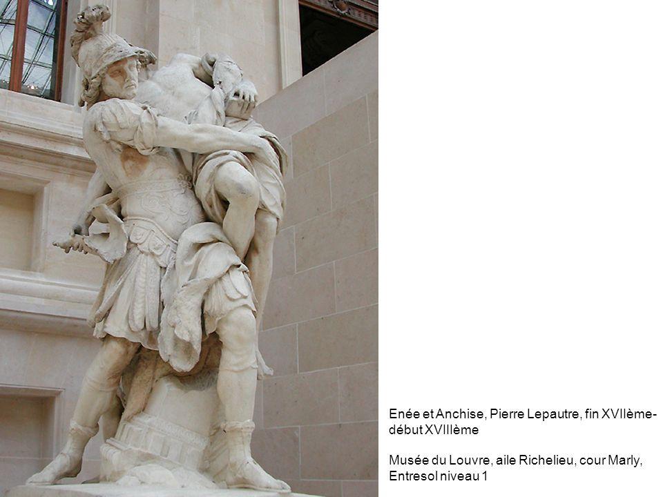 Enée et Anchise, Pierre Lepautre, fin XVIIème- début XVIIIème Musée du Louvre, aile Richelieu, cour Marly, Entresol niveau 1