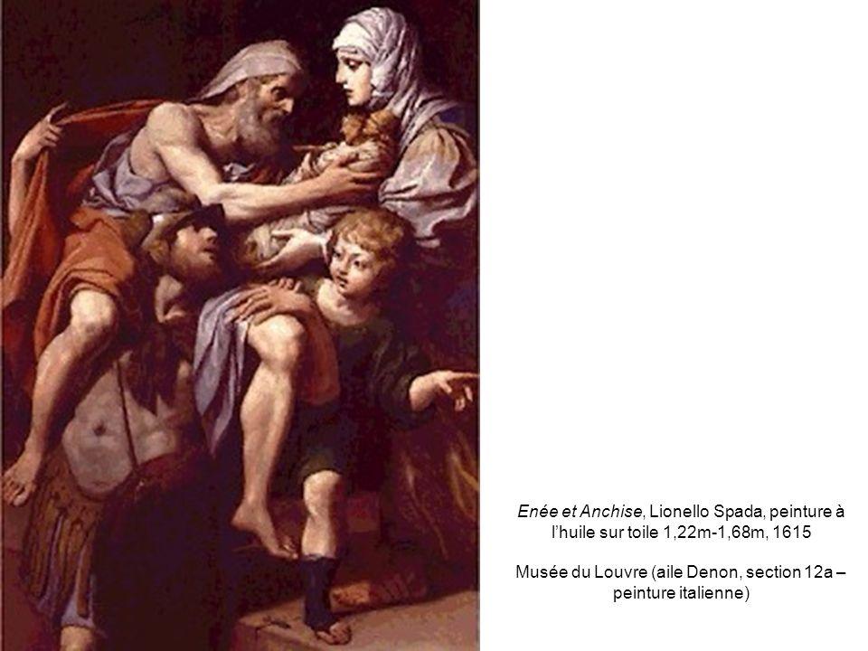 Enée et Anchise, Lionello Spada, peinture à lhuile sur toile 1,22m-1,68m, 1615 Musée du Louvre (aile Denon, section 12a – peinture italienne)
