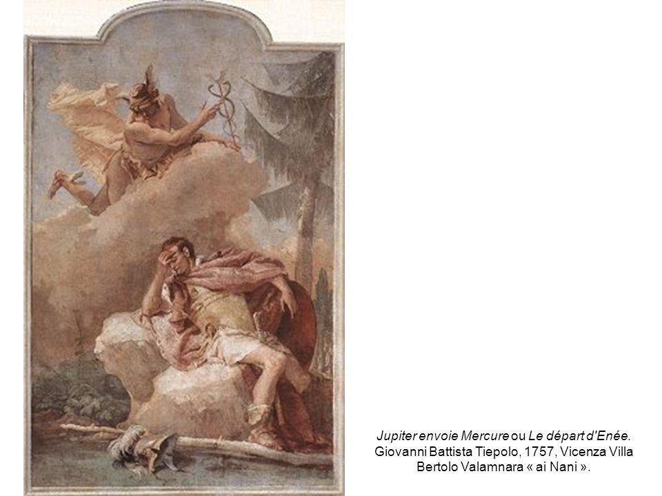 Jupiter envoie Mercure ou Le départ d'Enée. Giovanni Battista Tiepolo, 1757, Vicenza Villa Bertolo Valamnara « ai Nani ».
