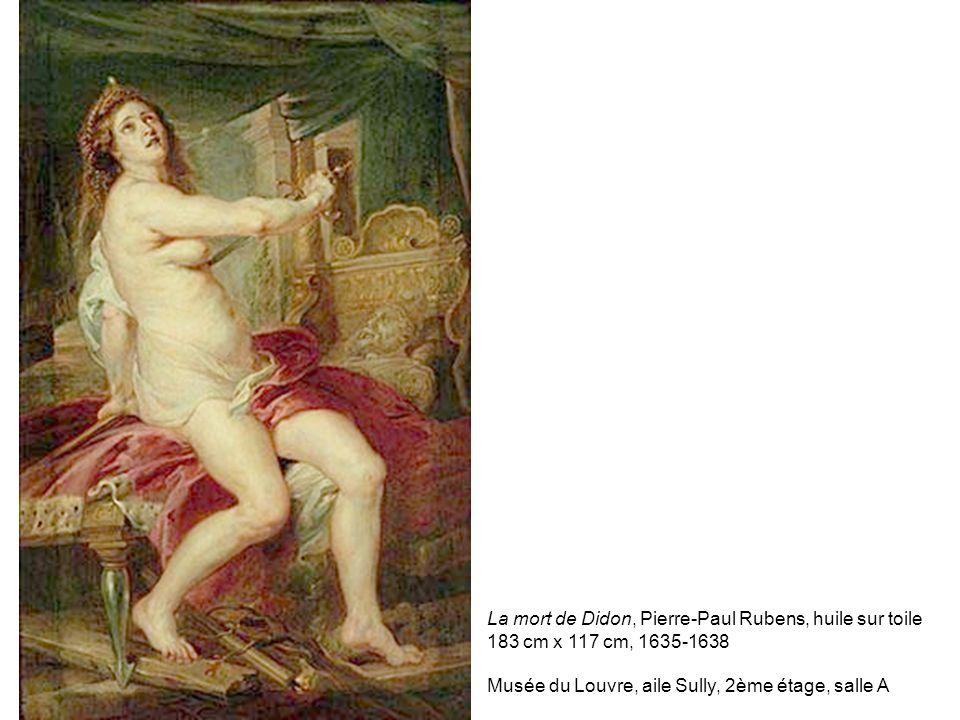 La mort de Didon, Pierre-Paul Rubens, huile sur toile 183 cm x 117 cm, 1635-1638 Musée du Louvre, aile Sully, 2ème étage, salle A