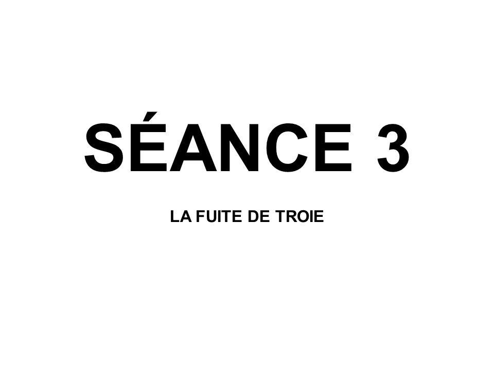 SÉANCE 3 LA FUITE DE TROIE