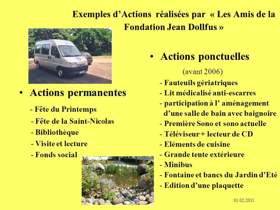 LAssociation « Les Amis de la Fondation Jean Dollfus » COMITE Président : Gérard ZIER Vice-Présidente : Roselyne GWINNER Secrétaire : Danielle NIEDERG