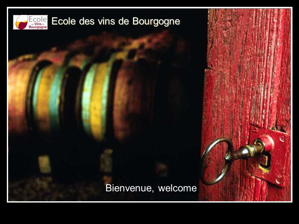 Ecole des vins de Bourgogne Bienvenue, welcome