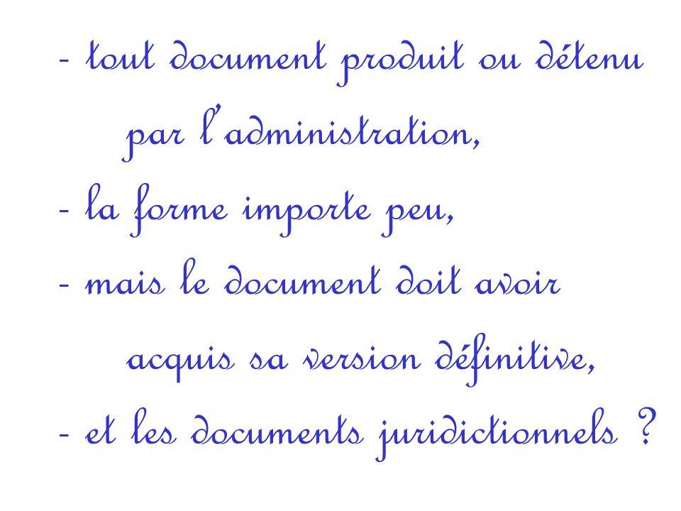 Quest-ce quun document administratif ?