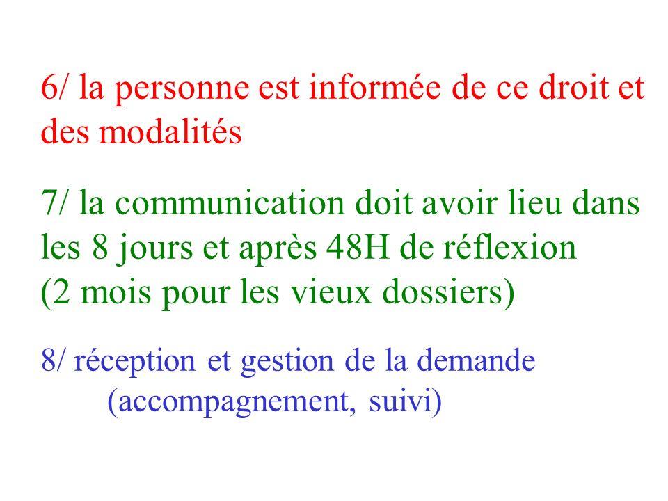 2 la communication ne se substitue pas au droit à linformation 3 elle doit respecter la confidentialité vis à vis des tiers 4 ce droit sapplique aux a